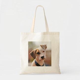 Perrito del beagle bolsa lienzo