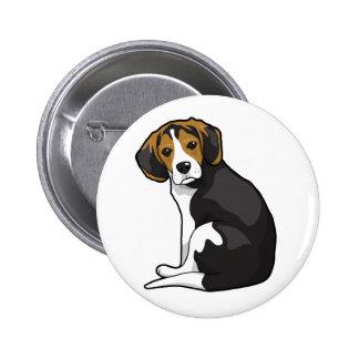 Perrito del beagle chapa redonda de 5 cm