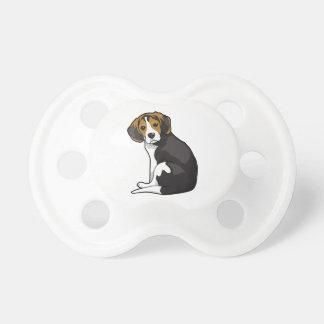 Perrito del beagle chupetes de bebé