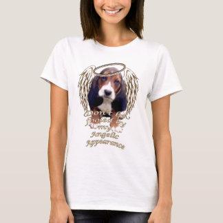 perrito del beagle del ángel camiseta