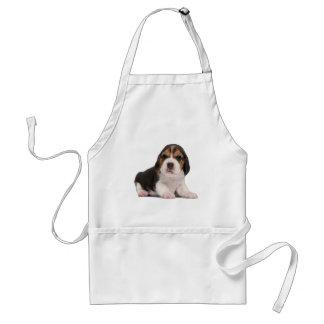 Perrito del beagle delantal