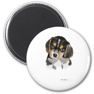perrito del beagle imán redondo 5 cm