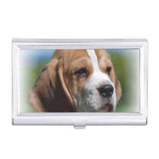 Perrito del beagle cajas de tarjetas de visita