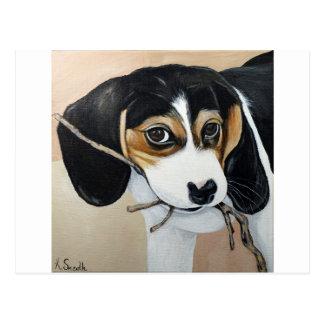 Perrito del beagle postal