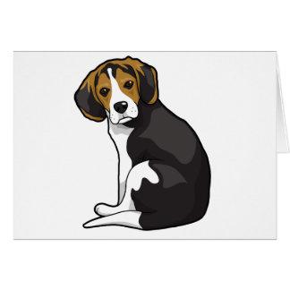 Perrito del beagle tarjeta de felicitación