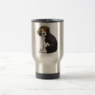 Perrito del beagle taza de viaje