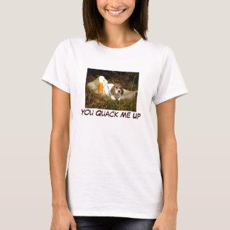 Perrito del beagle usted curandero yo encima de la camiseta