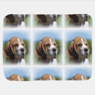 Perrito del beagle manta de bebé