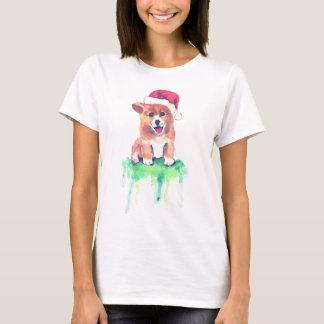 Perrito del Corgi del día de fiesta - camiseta