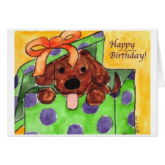 Perrito del feliz cumpleaños tarjeta de felicitación