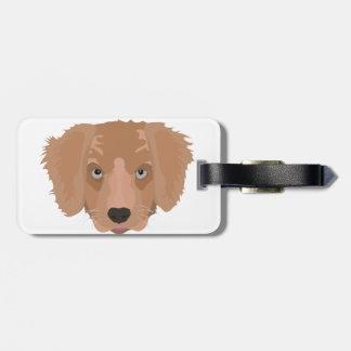 Perrito del golden retriever del ejemplo etiquetas para maletas