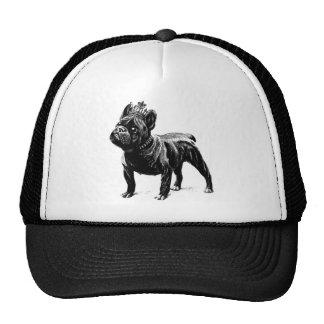Perrito del perro de la corona del dogo francés gorros bordados