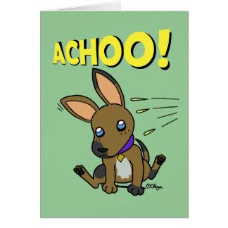 Perrito espigado grande tarjeta de felicitación