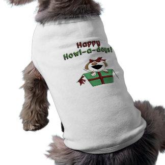 Perrito feliz de los Aullido-UNO-Días en caja de r Camisetas Mascota