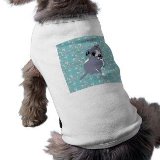 Perrito gris lindo de Pitbull en modelo de los cua Camiseta Sin Mangas Para Perro