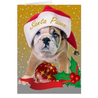 Perrito inglés del dogo en tarjetas del gorra de S