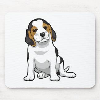 Perrito joven del beagle alfombrilla de ratón