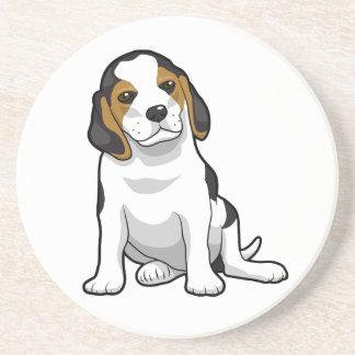Perrito joven del beagle posavasos personalizados