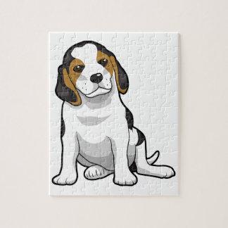 Perrito joven del beagle puzzles