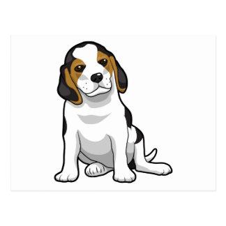 Perrito joven del beagle postal
