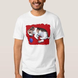 Perrito juguetón del beagle camiseta