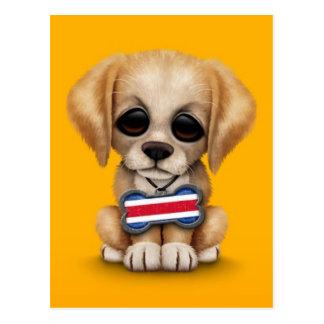 Perrito lindo con la placa de identificación de la postal