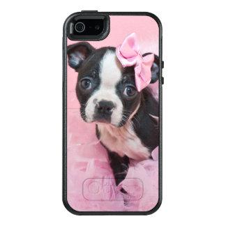 Perrito lindo estupendo de Boston Terrier que Funda Otterbox Para iPhone 5/5s/SE