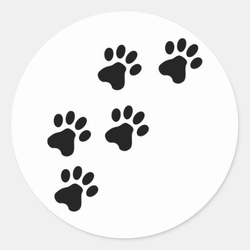 perrito lindo negro de las patas del perro pegatinas de Zazzle.