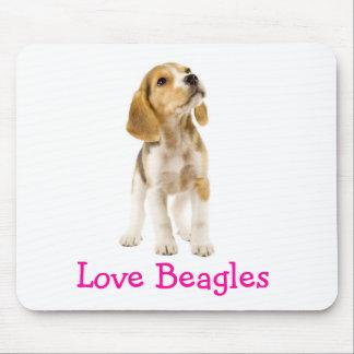 Perrito Mousepad de los beagles del amor Alfombrilla De Ratón