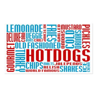 perritos calientes americanos (charla) plantilla de tarjeta de negocio
