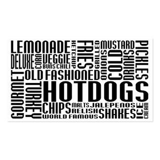 perritos calientes (charla del chit) tarjetas de visita