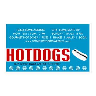 perritos calientes (tela de la palabra) tarjeta de visita