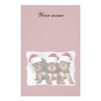 Perritos de Yorkshire Terrier del navidad Papelería
