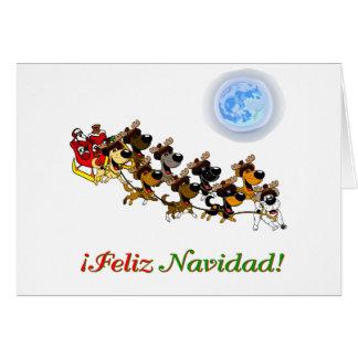 Perritos del navidad tarjeta
