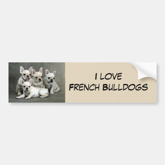 Perritos lindos del dogo francés pegatina para coche