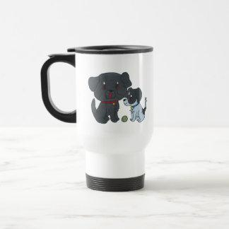 Perro 2 taza de viaje