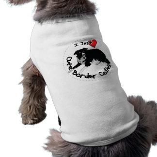 Perro adorable y divertido feliz del border collie camiseta sin mangas para perro