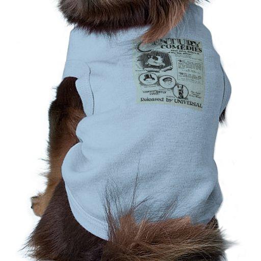 Perro animal del brownie de la película muda de 19 camisas de mascota