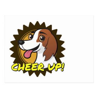 ¡Perro - anime para arriba! Postal