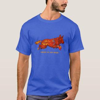 Perro australiano del ganado - inseguro en camiseta