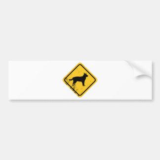 Perro australiano del ganado pegatina para coche