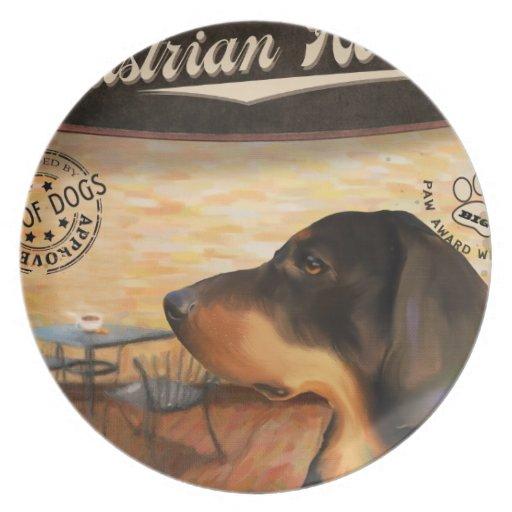 Perro austríaco de Café Platos Para Fiestas