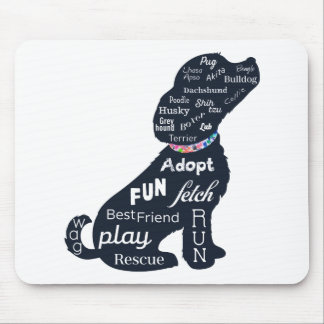Perro azul alfombrilla de ratón