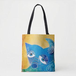 Perro azul bolsa de tela