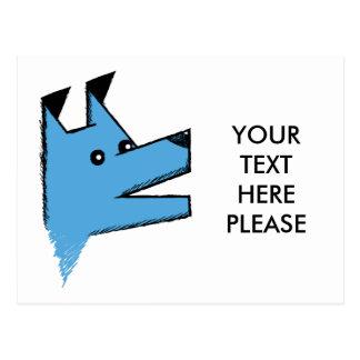 Perro azul fresco de Origami Postal