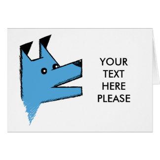 Perro azul fresco de Origami Tarjeta De Felicitación