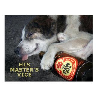 Perro borracho postal
