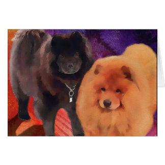 Perro chino de los heARTdogs de CASEY y de SASHA Tarjeta De Felicitación