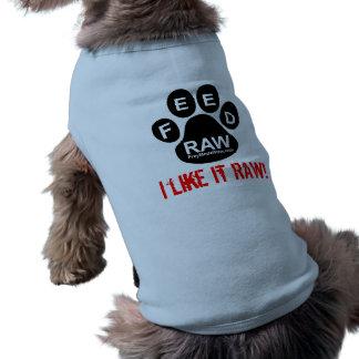 Perro crudo camiseta sin mangas para perro
