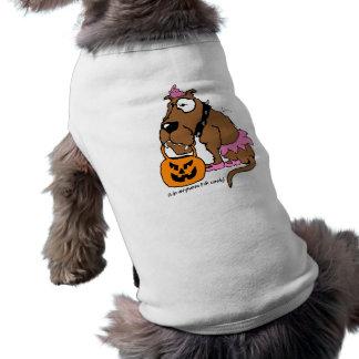 Perro cualquier cosa para la camiseta del mascota  camisa de mascota